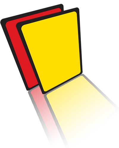 Yellow and red cards